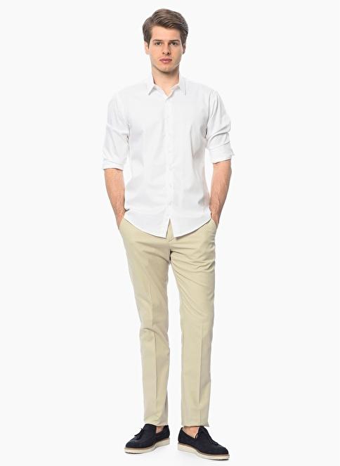 George Hogg Uzun Kollu Klasik Gömlek Beyaz